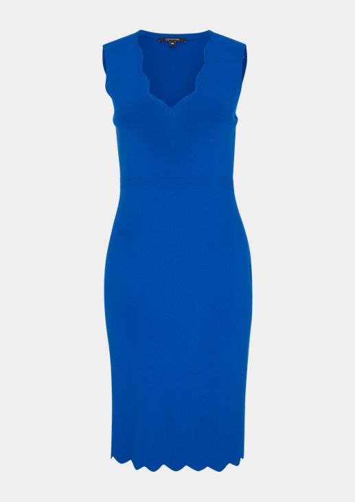 V-Neck-Kleid mit Bogenkante