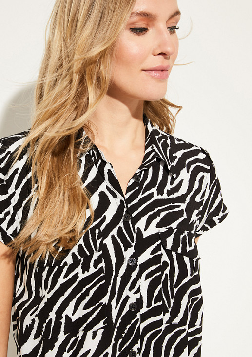 Longbluse mit Animal-Muster