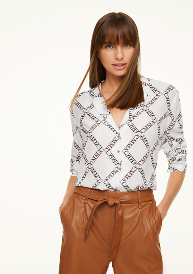 Long sleeve blouse with an all-over print from comma