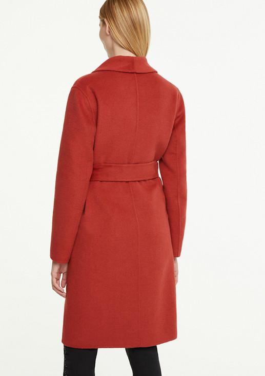 Langer Mantel mit Schalkragen