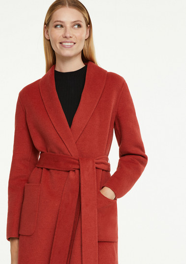 Long coat with a shawl collar from comma