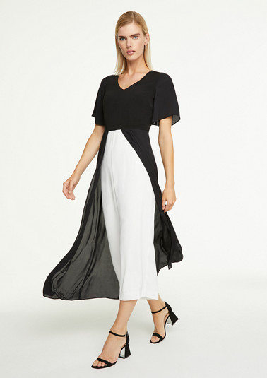 Black & white jumpsuit dress from comma