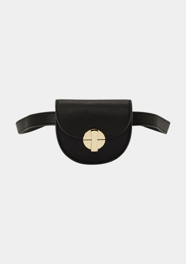 Belt bag with shiny gold tone details from comma