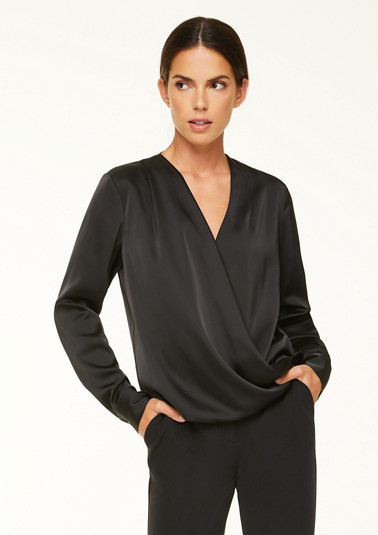 Long sleeve blouse with cache coeur neckline from comma