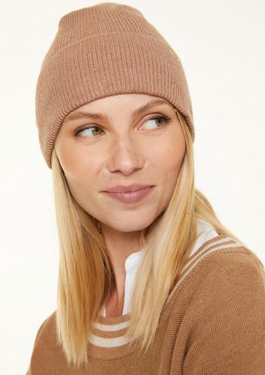 Mütze aus Rippstrick