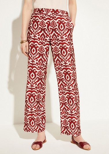 Marlene trousers with an ornamental pattern from comma