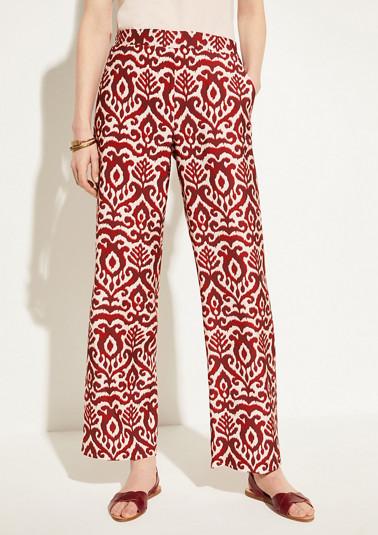 Pantalon Marlene à motif ornemental de Comma