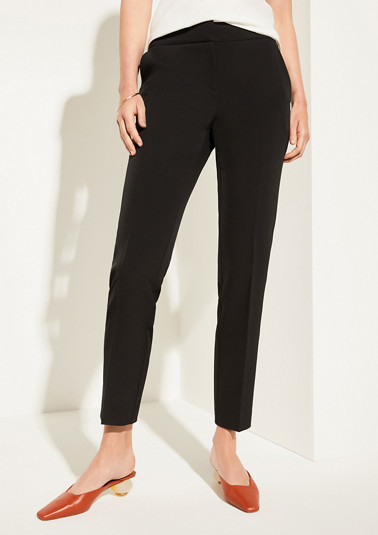 Regular Fit: trousers with pressed pleats from comma