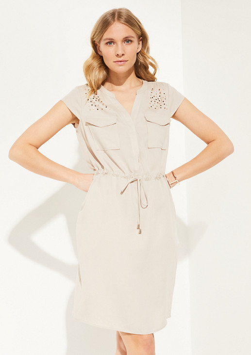 Lightweight dress with appliqués from comma