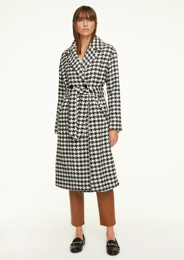 Wool coat with a pepita pattern from comma