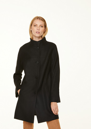 Paletot coat in flannel fabric from comma