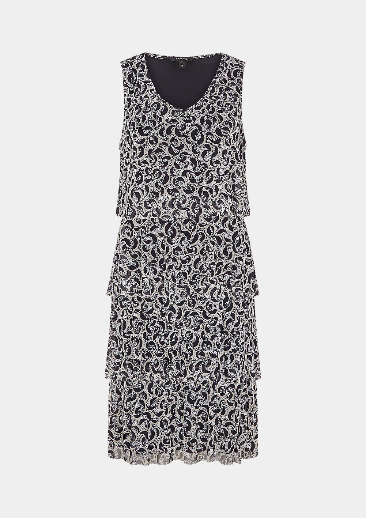 Mesh-Kleid mit Layering