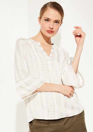 Blouse with embroidery from comma