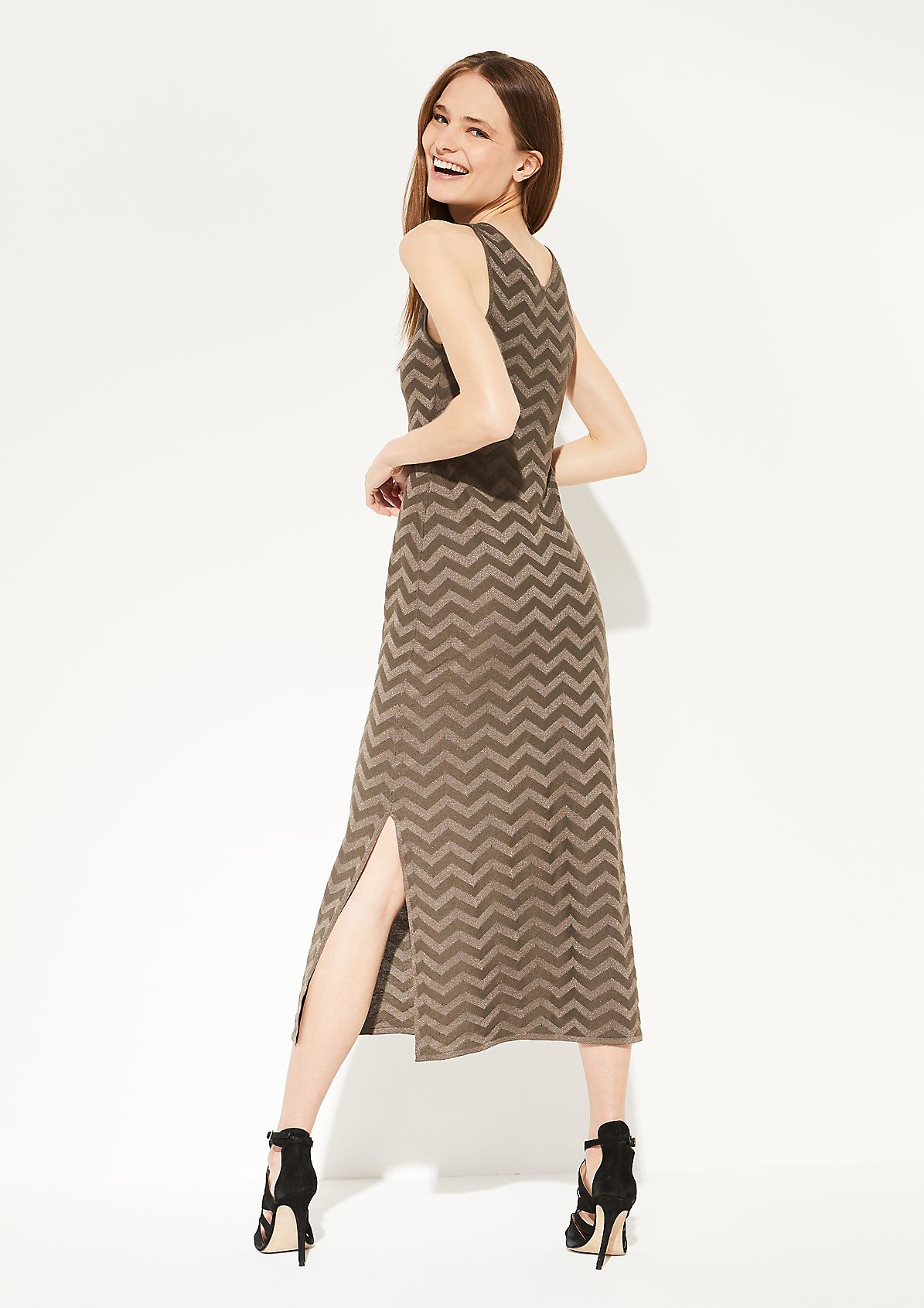 Kleid mit glitzerndem Strickmuster