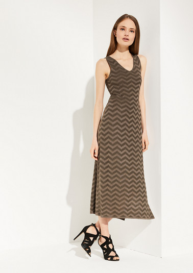 Dress with a sparkly knit pattern from comma