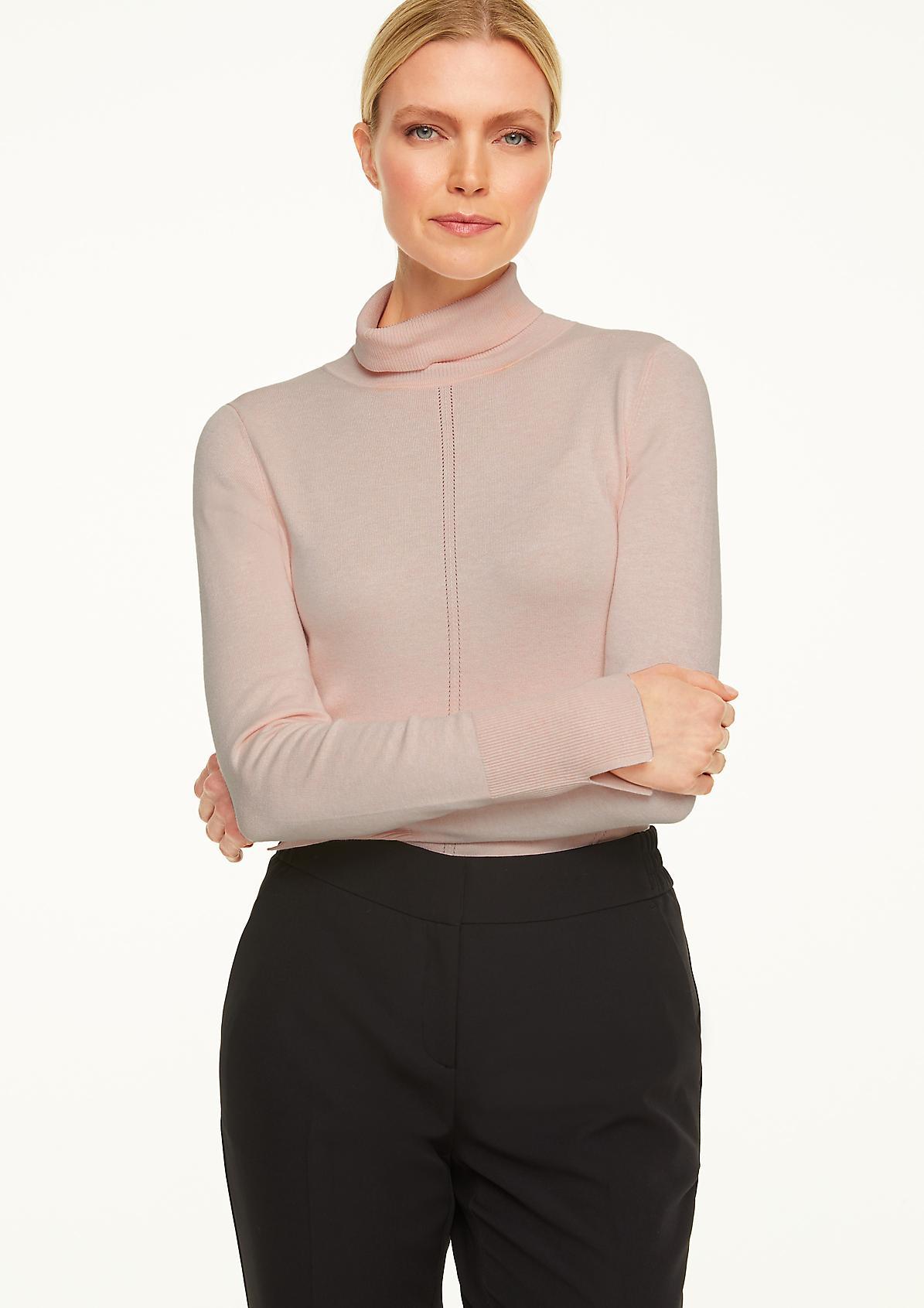 Turtleneck-Pullover mit Rollsaum