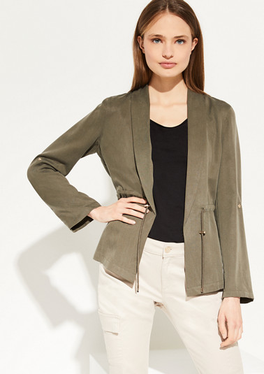 Lyocell blazer with a drawstring from comma