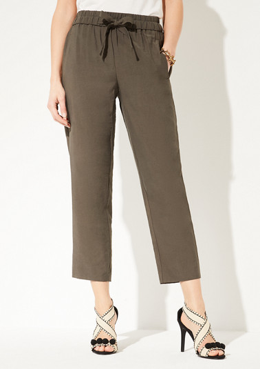 Regular Fit: trousers with an elasticated waistband from comma