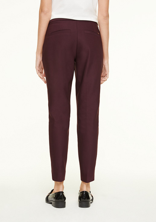 Elegant stretch trousers with pressed pleats from comma