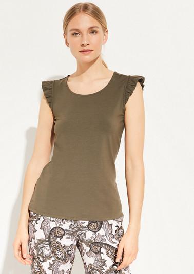 Jerseyshirt mit Rüschenärmeln