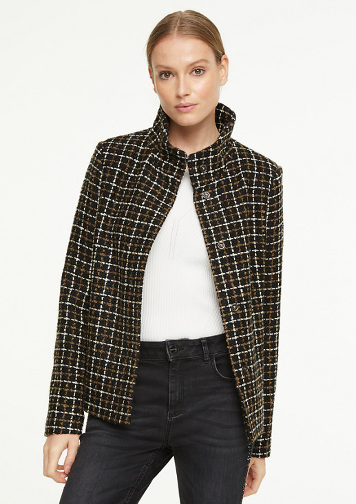 Wool blend check jacket from comma