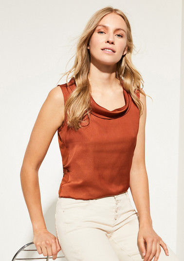 Mixed fabric blouse top from comma