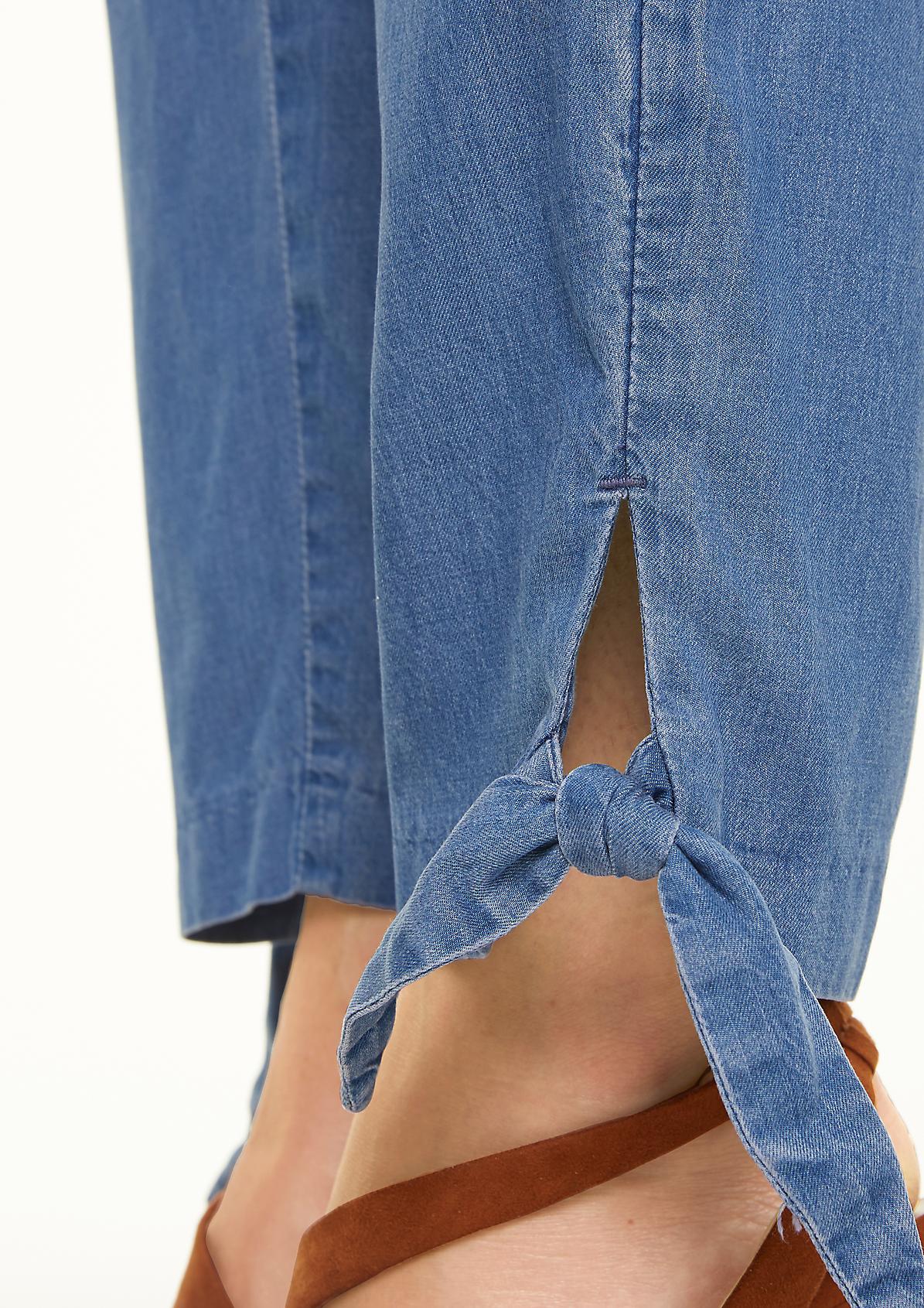 Light denim trousers made of blended lyocell from comma