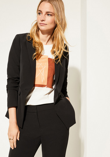 Eleganter Blazer in Unicolor