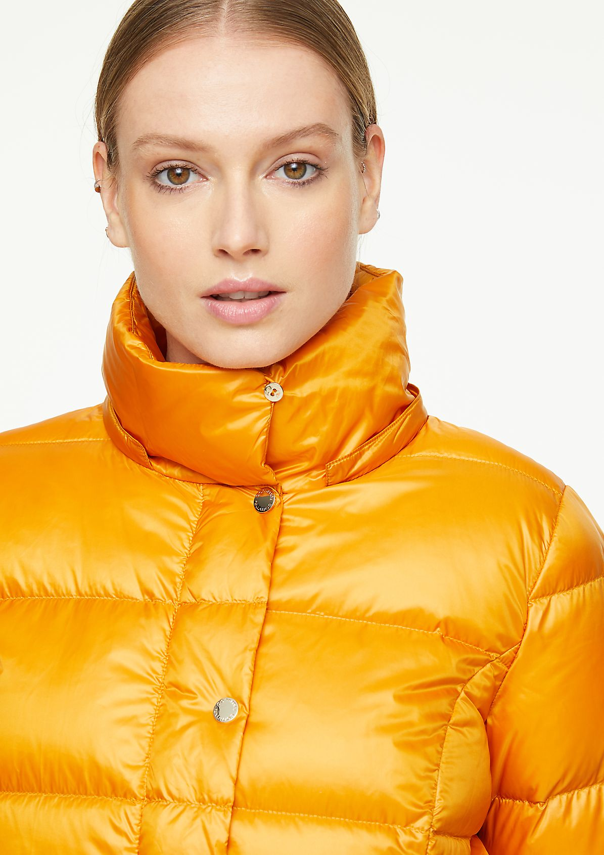 Down jacket with a shimmering finish from comma