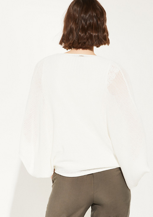 Poncho mit Ajour-Muster