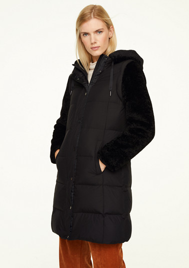 2-in-1 coat with teddy plush from comma