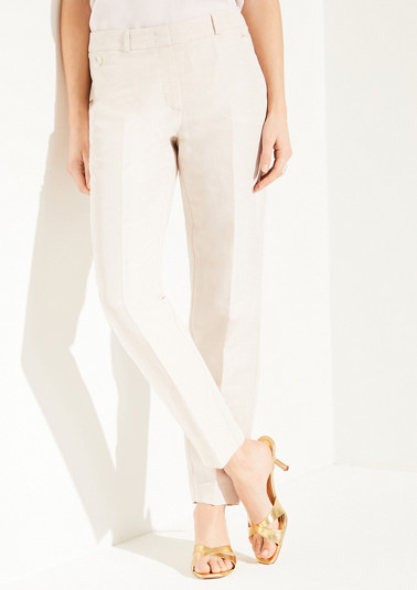Regular Fit: blended linen trousers from comma