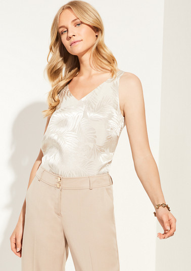 Blouse top in a shimmering look from comma