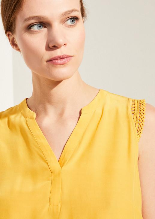 Bluse mit Makramee-Detail
