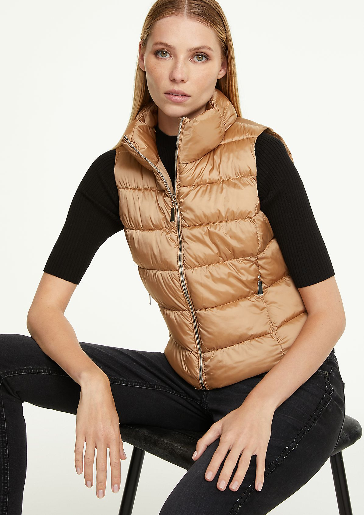Lightweight-Steppweste mit Zipper