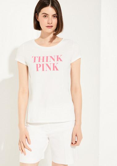 T-Shirt mit Statement-Wording
