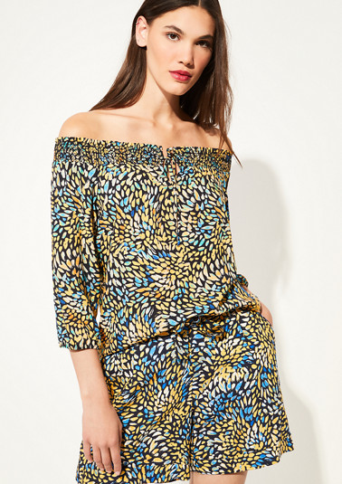 Poplin blouse with an all-over print from comma