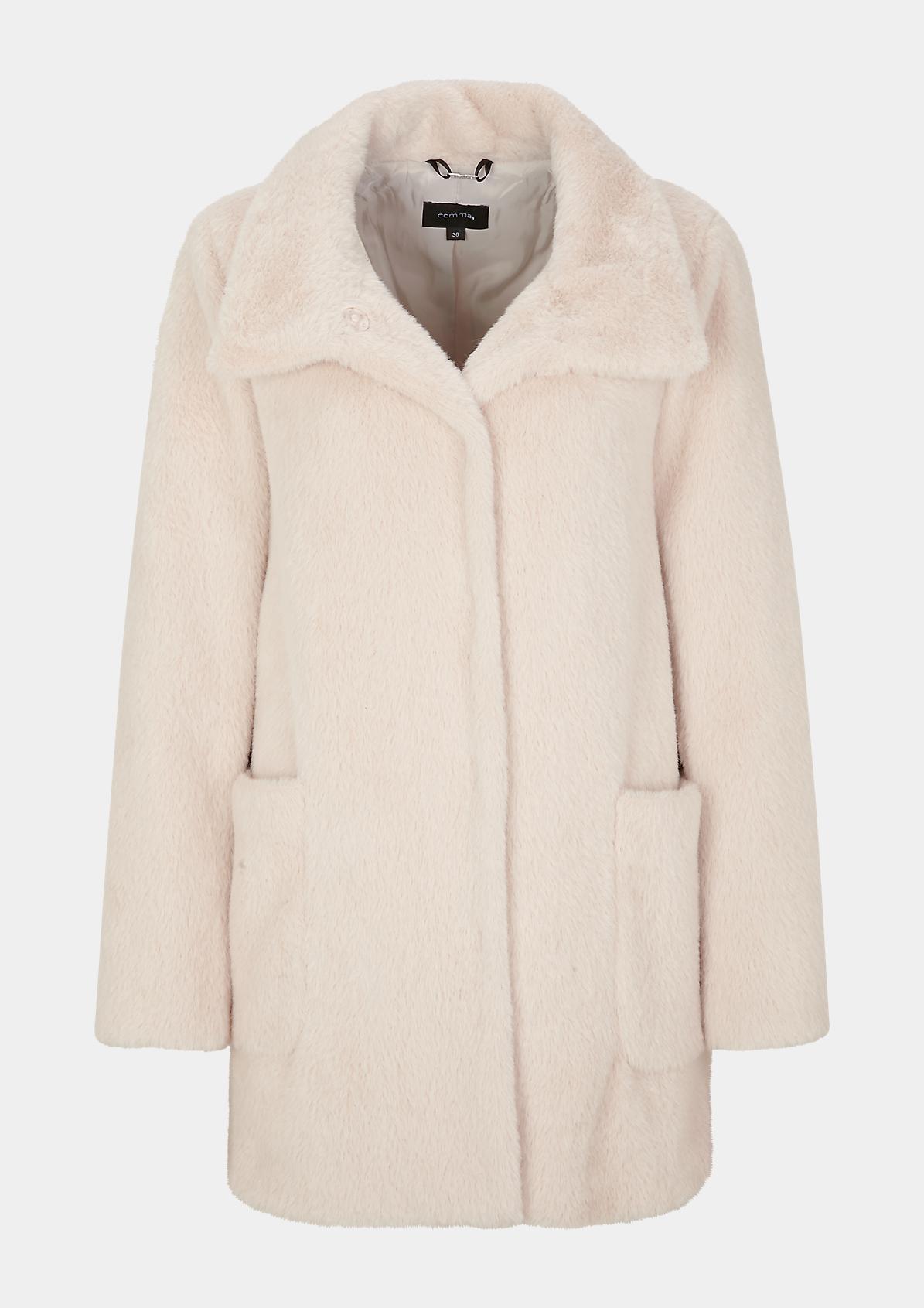 Kuschelige Jacke mit Stehkragen