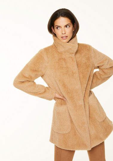 Cosy jacket with stand-up collar from comma