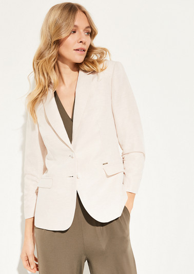 Linen blend blazer from comma