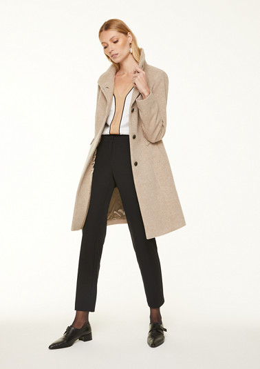 Wool blend coat with a percentage of cashmere from comma