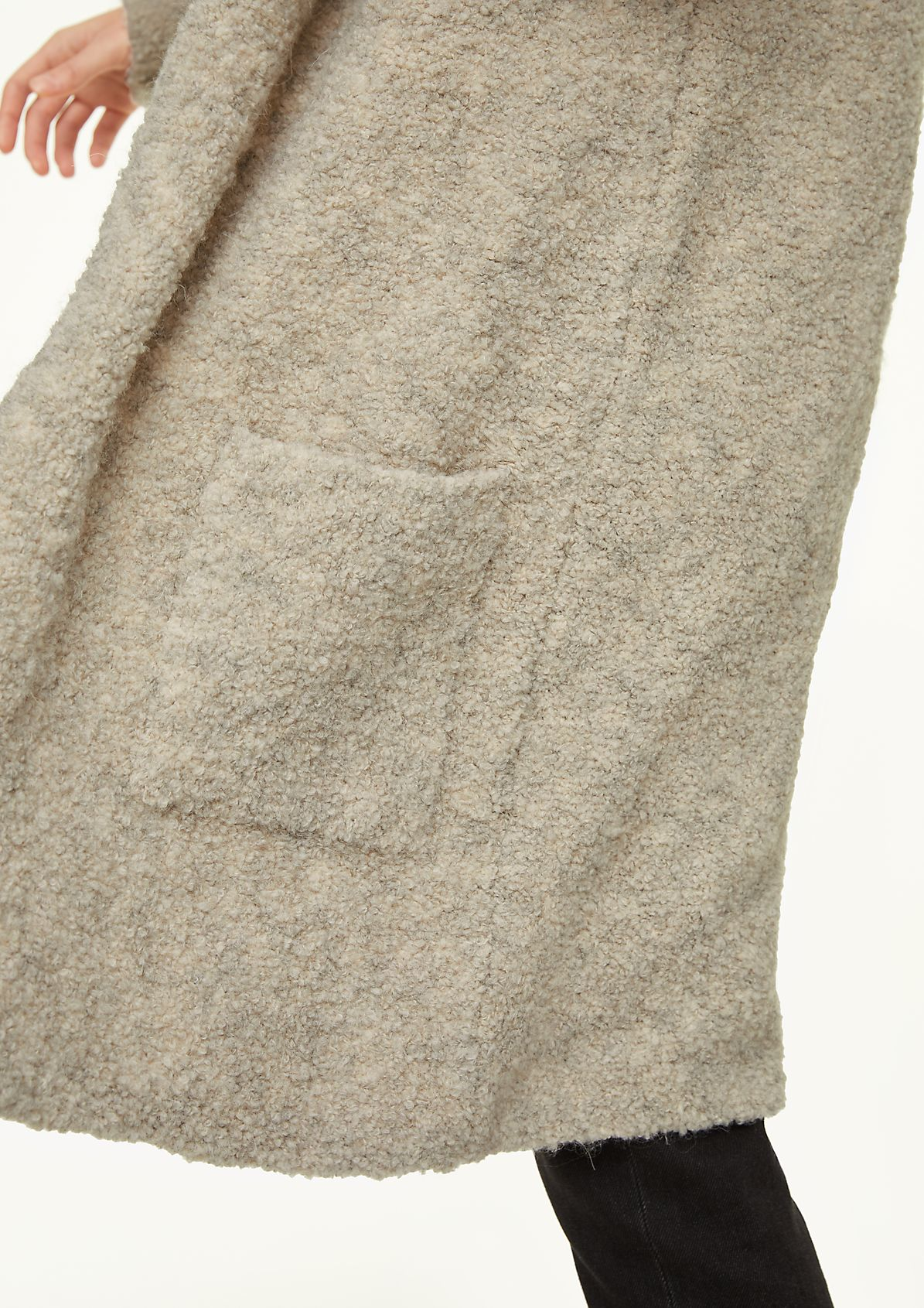 Long cardigan in a soft wool blend from comma