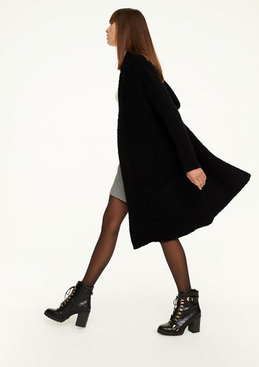 Long-Cardigan aus weichem Wollmix