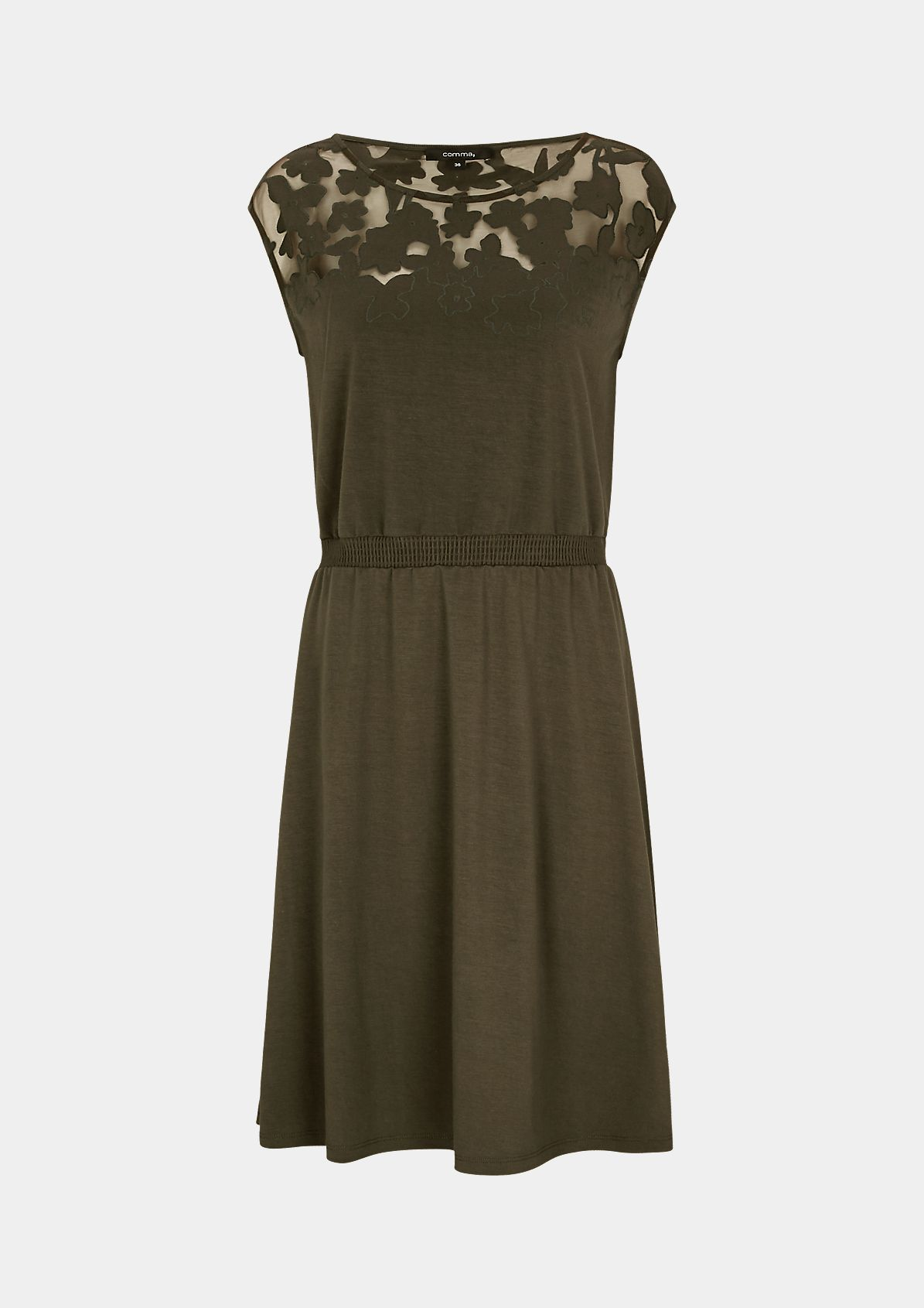 Dress with a burnt-out pattern from comma
