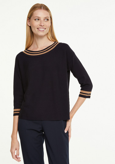 Jumper with a bateau neckline from comma