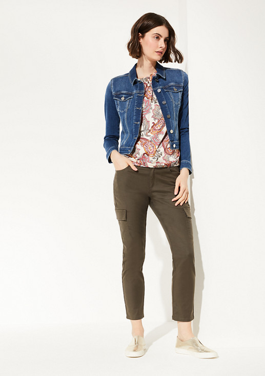 Draped satin blouse from comma