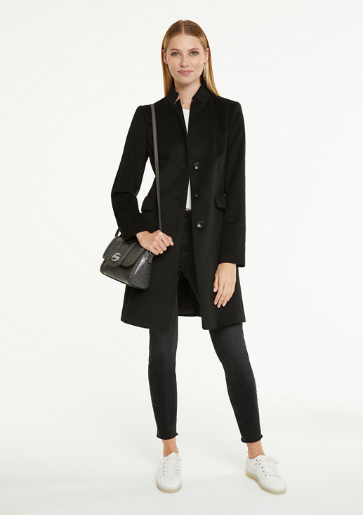 Soft coat with a high neckline from comma