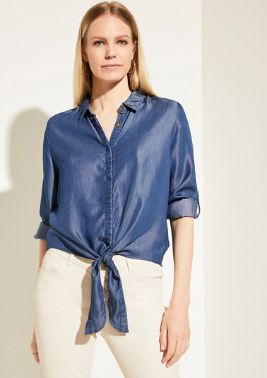 Lyocell blouse with a knotted detail from comma