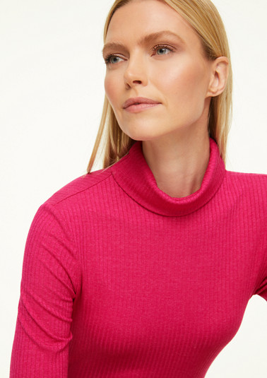 Turtleneck with ribbed texture from comma