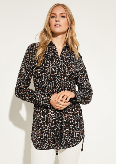 Long blouse with an animal print pattern from comma